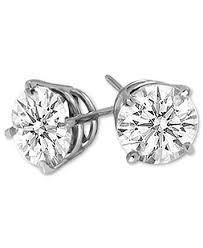 14k white gold earrings diamond stud earrings 1 2 ct t w in 14k white gold earrings
