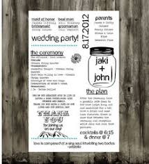 jar wedding programs personalized jar wedding ceremony program fan digital file