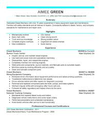 how to make a resume exles best diesel mechanic resume exle livecareer