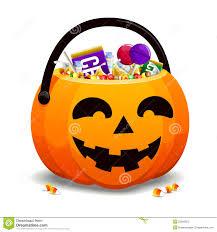 free jack o lantern clipart jack o lantern full of candy stock photos image 25993623