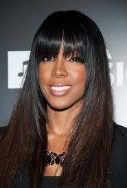 sew in weaves with bangs sew in hairstyles with bangs kelly rowland full sew in weave with