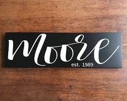 Custom Signs For Home Decor Wooden Sign Etsy