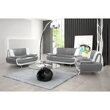 canap blanc gris canapé design 3 2 1 bregga gris et blanc achat vente canapé