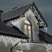 christmas outdoor lights at lowest prices icicle lights 220 led bright white indoor u0026 outdoor christmas
