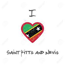 St Kitts Flag I Love Saint Kitts And Nevis T Shirt Design Kittian And Nevisian
