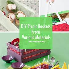 picnic basket ideas diy picnic baskets from various materials