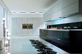 amusing modular kitchen design ideas with curved shape black white