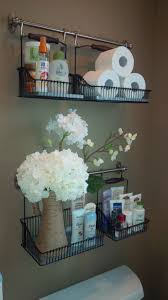 Storage For Towels In Small Bathroom by Best 25 Hanging Basket Storage Ideas On Pinterest Hanging Wall