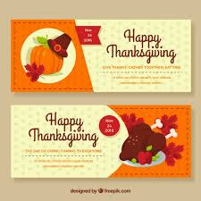 happy thanksgiving banners vector free