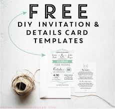 Wedding Invite Template Free Printable Wedding Invitation Templates Badbrya Com