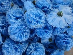 blue carnations 2018 new arrrivals colour design diameter 9cm artificial silk