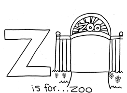zoo alphabet coloring pages alphabet coloring pages of