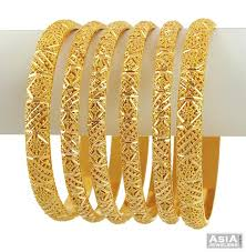 gold bangle bracelet set images Latest six piece set 22k gold bangle designs jpg