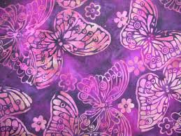 butterfly batik background is a rich grape color with fushia