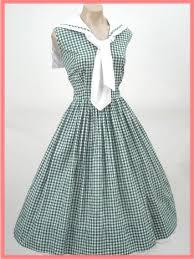 1950s vintage rockabilly dresses 50 u0027s green gingham check sailor