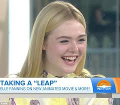 elle fanning stays cool in pinafore dress in new york city daily