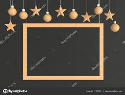 wooden frame with hanging balls and ornaments on