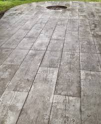 wood stamped concrete patio home design ideas and pictures