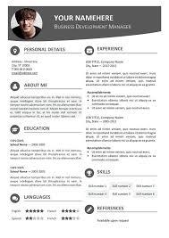 Editable Resume Template 10 Best Resume Cv For Powerpoint Images On Pinterest Resume Cv