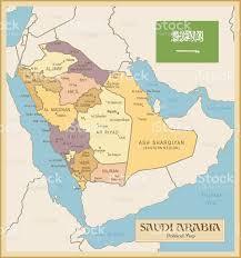Map Of Oman Vintage Map Of Saudi Arabia Stock Vector Art 470140800 Istock