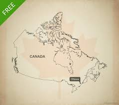 Canada Blank Map by Free Vector Map Of Canada Outline One Stop Map