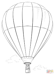 air baloon coloring free printable coloring pages