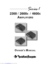 rockford fosgate 4600x manuals