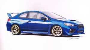 sports cars drawings subaru impreza wrx sti coupe 50x35cm fb page car drawings by