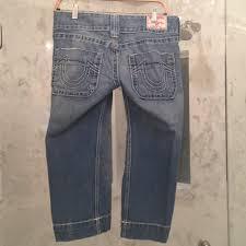 light blue true religion jeans true religion light blue capri cropped jeans size 28 4 s tradesy
