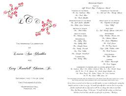 in memory of wedding program wedding programs enchanting events