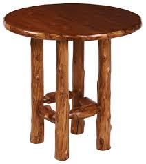 Rustic Cabin Furniture Rustic Log Pub Table Set Minnesota Log Furniture The Log