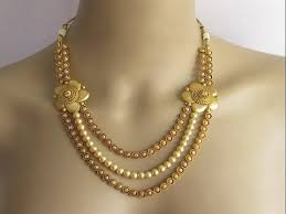 traditional 22k chandraharam gold necklace models haram