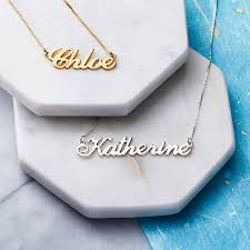 White Gold Name Necklace Personalised Handmade Name Necklace By Anna Lou Of London
