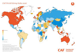 World Map 1950 2016 World Giving Index Shows Myanmar Is Most Generous Nation