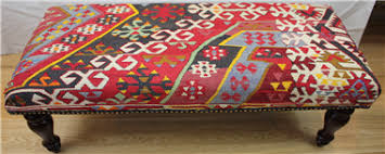 Turkish Bench Antique Turkish Kilim Bench Stool At Lower Price On Rug Store Uk