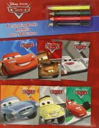 disney cars mini colouring books u0026 pencil 9781781868898