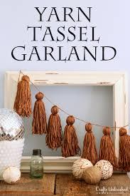 diy tassel garland yarn tassels crafts unleashed