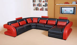 red and black living room set living room decoration with white and brown wall and bookshelf wall