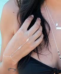 sterling silver ring bracelet images Sterling silver ring bracelet bohemian style bracelet hand jpg