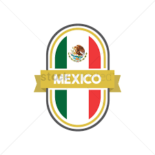 Mexicans Flags Mexican Flag Label Vector Image 1618480 Stockunlimited