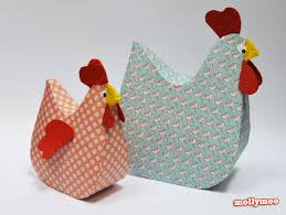 How To Make A Paper Beak - mollymoocrafts papier mache hens mollymoocrafts