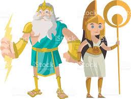 palas athena minerva and jupiter zeus god of the ray greek roman