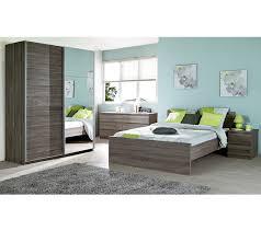 but chambre a coucher lit 140x190 cm best imitation chêne grisé lits but