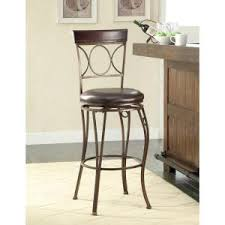 powell 24 in bronze and copper cushioned bar stool 222 918 the