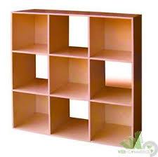 mensole color ciliegio libreria mod cubo 9 ciliegio cm 91x91 scaffale mensola legno