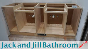 jack jill bathroom building vanity cabinets jack and jill bathroom part 9 youtube