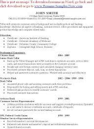 bank call center representative resume sample professional