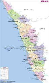 India Physical Map by Kerala Map State Fact And Travel Information