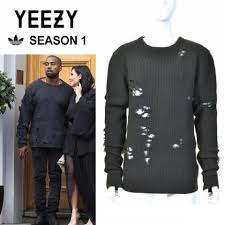 yeezy sweater adidas green yeezy season 1 destroyed sweater pullover size 8 m
