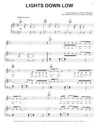 lights down low guitar chords lights down low sheet music direct